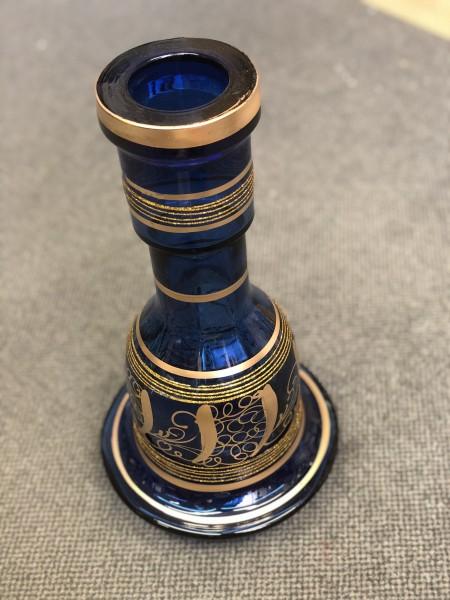 Flasche Blau mit Muster